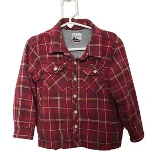 Old Navy 3T Lined Plaid Snap Button Shirt w/Pocket